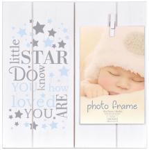 Innova Editions Baby Little Star Blue Clipper Frame Blue