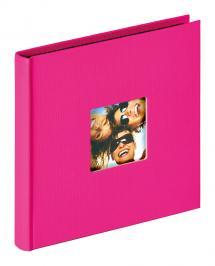 Walther Fun Album Rosa - 18x18 cm (30 schwarze Seiten / 15 Blatt)