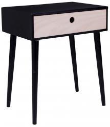 House Nordic Nachttisch, Ablagetisch Parma 32x45 cm - Schwarz/Holz