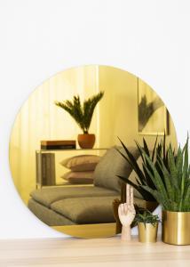 KAILA KAILA Runder Spiegel Gold 80 cm Ø