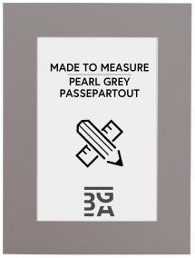 Passepartouter Måttbeställda Passepartout Grau - Maßgefertigt (weißer Kern)