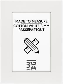 Egen tillverkning - Passepartouter Passepartout Cotton White - Maßanfertigung