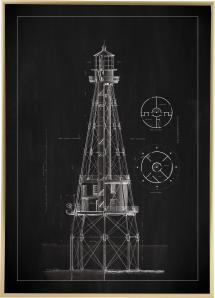 Bildverkstad Schiefertafel - Leuchtturm - Ship Shoal Lighthouse Poster