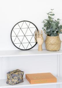 KAILA KAILA Runder Spiegel Triangles - Schwarz 35 cm Ø