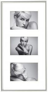 Walther Galeria Collage-Rahmen Silber - 3 Bilder (10x15 cm)