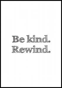 Bildverkstad Be kind Rewind Poster