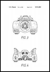 Bildverkstad Patentzeichnung - Batman - Batmobile 1990 II