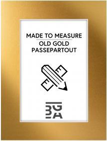 Egen tillverkning - Passepartouter Passepartout Old Gold - Maßanfertigung (Weißer Kern)