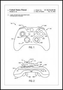 Bildverkstad Patent Print - Game Controller III - White Poster