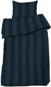Redlunds Bettwäsche-Set Big Stripe Satin 2-teilig - Marine