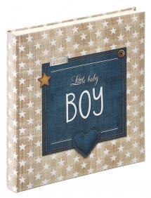 Walther Little Babyalbum Boy Blau - 28x30,5 cm (50 weiße Seiten / 25 Blatt)