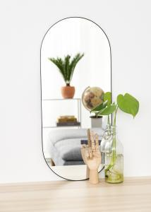 KAILA KAILA Oval Mirror - Thin Black 35x80 cm