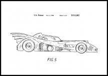 Bildverkstad Patentzeichnung - Batman - Batmobile 1990 III