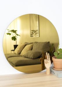 KAILA KAILA Runder Spiegel Gold 70 cm Ø