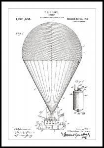Bildverkstad Patentzeichnung - Luftschiff - Weiß Poster