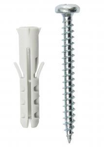 Hallmiba Dübel 25 x 5,5 mm mit Schraube 10er-Pack