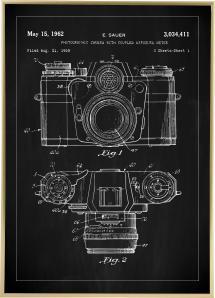 Lagervaror egen produktion Patentzeichnung - Kamera I - Schwarz