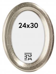 Bubola e Naibo Molly Oval Silber 24x30 cm