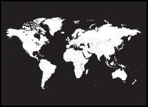 Bildverkstad Weltkarte Weiß Poster
