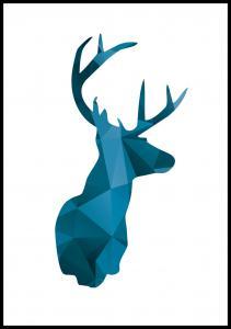 Bildverkstad Deer - Blue Poster