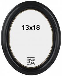 Estancia Eiri Mozart Oval Schwarz 13x18 cm