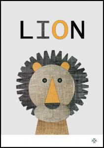 Bildverkstad Fabric lion Poster