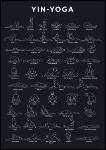 Bildverkstad Yoga - Navy Poster