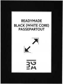Galleri 1 Passepartout Schwarz (weißer Kern) 50x70 cm (39x49)