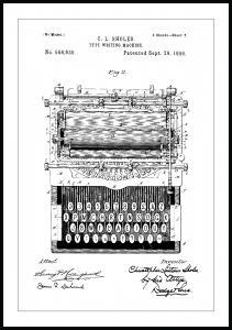 Bildverkstad Patentzeichnung - Schreibmaschine