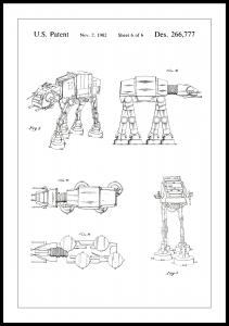 Lagervaror egen produktion Patentritning - Star Wars - Walker - Vit