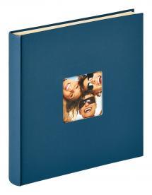 Walther Fun selbstklebend Blau - 33x34 cm (50 weiße Seiten / 25 Blatt)