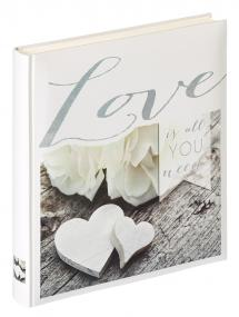 Walther Love is all you need - Fotoalbum - 28x30,5 cm (50 weiße Seiten / 25 Blatt)
