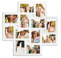 Milano Collage-Rahmen Plexiglas Weiß - 12 Bilder