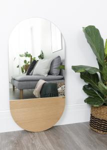 Hübsch Spiegel Oval Eiche 50x100 cm