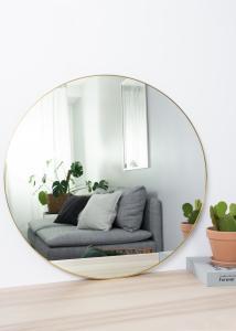 House Nordic Spiegel Jersey Messing 80 cm Ø