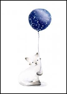 Bildverkstad Cat With Balloon