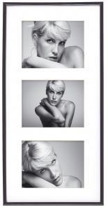 Walther Galeria Collage-Rahmen Schwarz - 3 Bilder (13x18 cm)