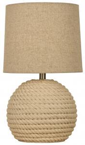 Aneta Belysning Tischlampe Sisal - Naturweiß