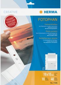 Difox Herma Fototaschen 10x15 cm horizontal - 10er-Pack Weiß