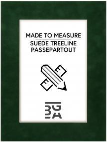 Egen tillverkning - Passepartouter Passepartout Suede Treeline - Maßanfertigung (Weißer Kern)