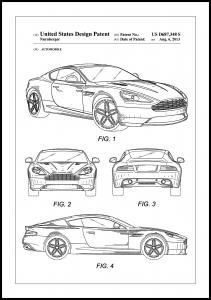 Bildverkstad Patent Print - Aston Martin - White