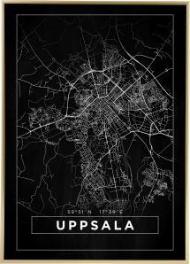 Bildverkstad Map - Uppsala - Black Poster