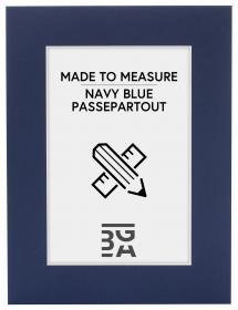 Egen tillverkning - Passepartouter Passepartout Marineblau - Maßgefertigt (weißer Kern)