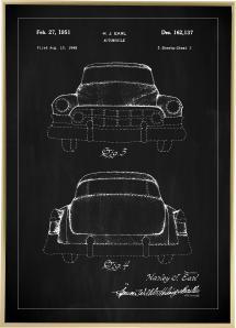 Bildverkstad Patentritning - Cadillac II - Svart