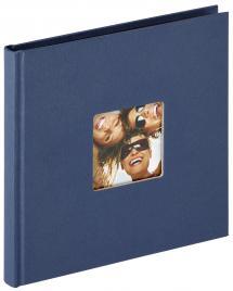 Walther Fun Album Blau - 18x18 cm (30 schwarze Seiten / 15 Blatt)