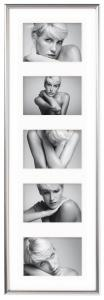 Walther Galeria Collage-Rahmen Silber - 5 Bilder