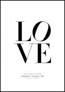 Personlig poster Love 2 - White