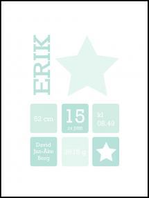 Personlig poster Star Birth Poster II Green
