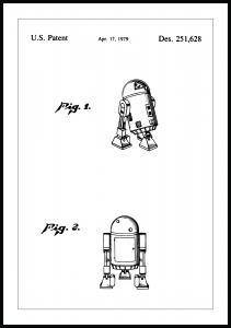 Lagervaror egen produktion Patentzeichnung - Star Wars - R2-D2