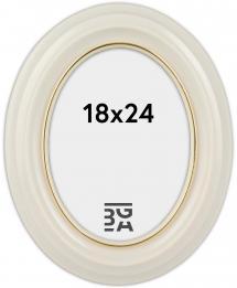 Estancia Eiri Mozart Oval Weiß 18x24 cm